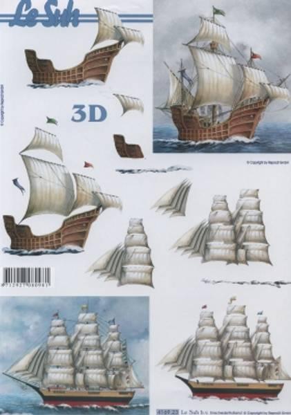 3D ark - Seilskuter