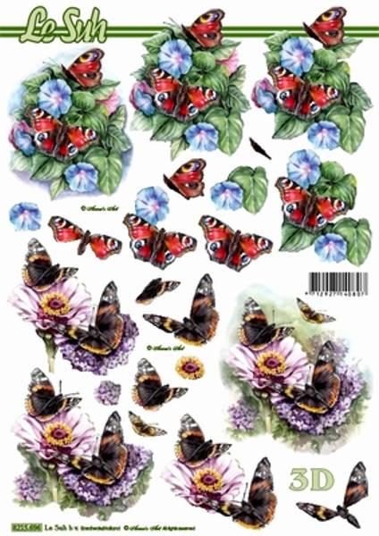 3D ark - sommerfugler