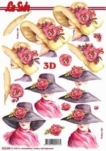 Bilde av 3D ark - Dame med hatt og