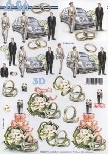 Bilde av 3D ark - Bryllup, 2 menn
